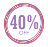 Sales Badge - 40% Off