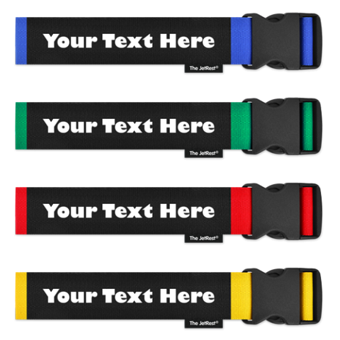 Family Pack of Personalised Luggage Straps
