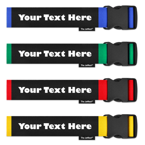 4 Pack of Personalised Luggage Straps