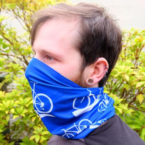 Face Covering - Personalised Snood Gaiter with Sporting Icon Design