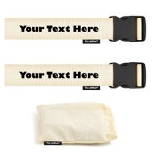 Personalised Cotton Luggage Strap Set