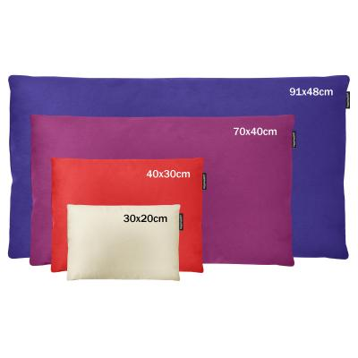 Buckwheat Sleep and Bed Pillows Shown in Various Size Options