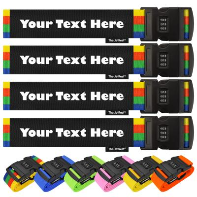 Personalised Combination Luggage Strap 4 Pack from The JetRest