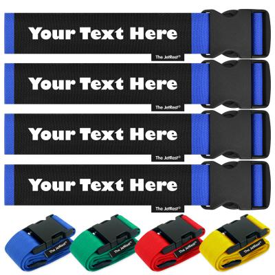 Pack of 4 Personalised Luggage Straps by The JetRest