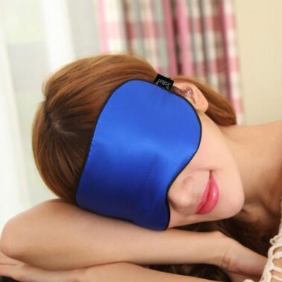 Personalised Silk Sleep Eye Masks from The JetRest® Lifestyle Image in Blue