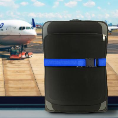 Luggage Straps - UK Made with Size Options - Royal Blue Shown on Suitcase