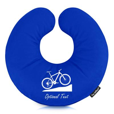 Personalised Travel Pillow with Mountain Bike Designer Icon