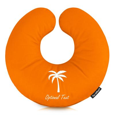 Personalised Travel Pillow with Palm Tree Designer Icon