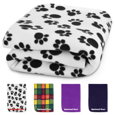 Personalised Pet Fleece Blanket showing colour options