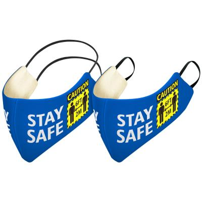 Luxury Face Mask with Stay Safe Logo Available with Round the Head Elastic or Round the Ear Loops