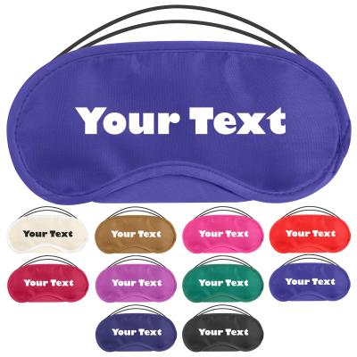 Personalised Blind Fold Eye Mask for Parties, Team Building and Sleep