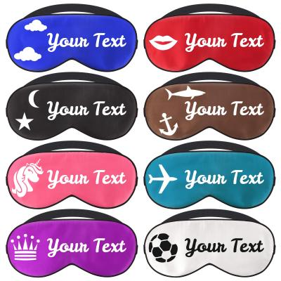 Personalised Luxury Silk Eye Mask with Themed Design