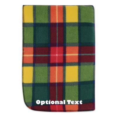 (100cm x 70cm) - Tartan Check Fleece Fabric (Personalised with Text)