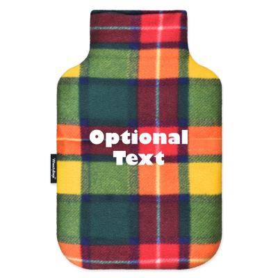 - Standard (2 Litre) - Tartan Colour Check Fleece Fabric and Removable Cover (Personalised with Text)